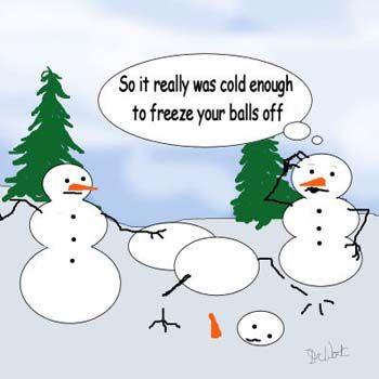 snowmen in the cold